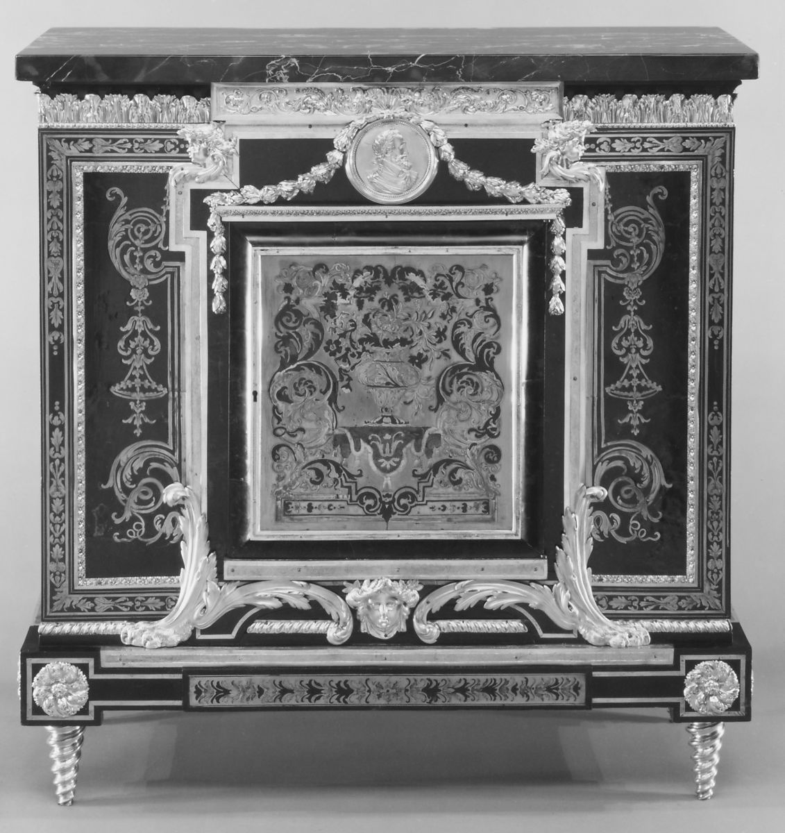 After A Design By Andre Charles Boulle Low Cabinet Meuble A