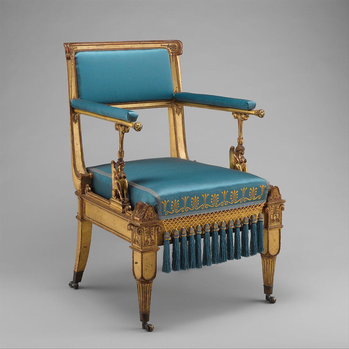karl friedrich schinkel armchair german berlin the met. Black Bedroom Furniture Sets. Home Design Ideas