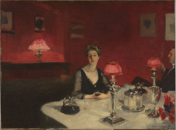 John Singer Sargent | A Dinner Table at Night | American | The Met
