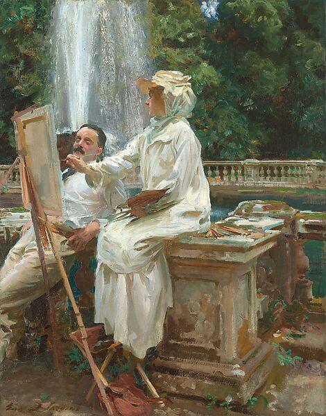 John Singer Sargent | The Fountain, Villa Torlonia, Frascati, Italy |  American | The Met