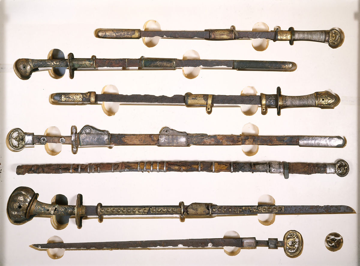 Sword with Scabbard Mounts, Iron, gold, copper, Japanese