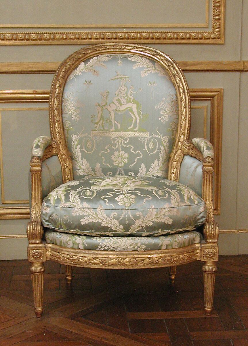 Louis Delanois | Armchair (Bergère) (one of a pair) (part of a set) | French, Paris | The Met