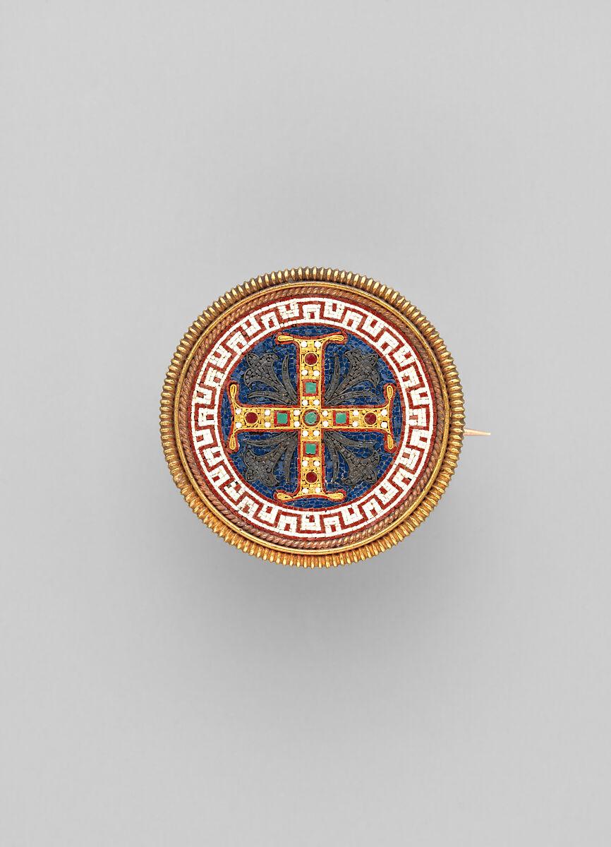 Firm of Castellani | Brooch with Greek Cross | Italian, Rome