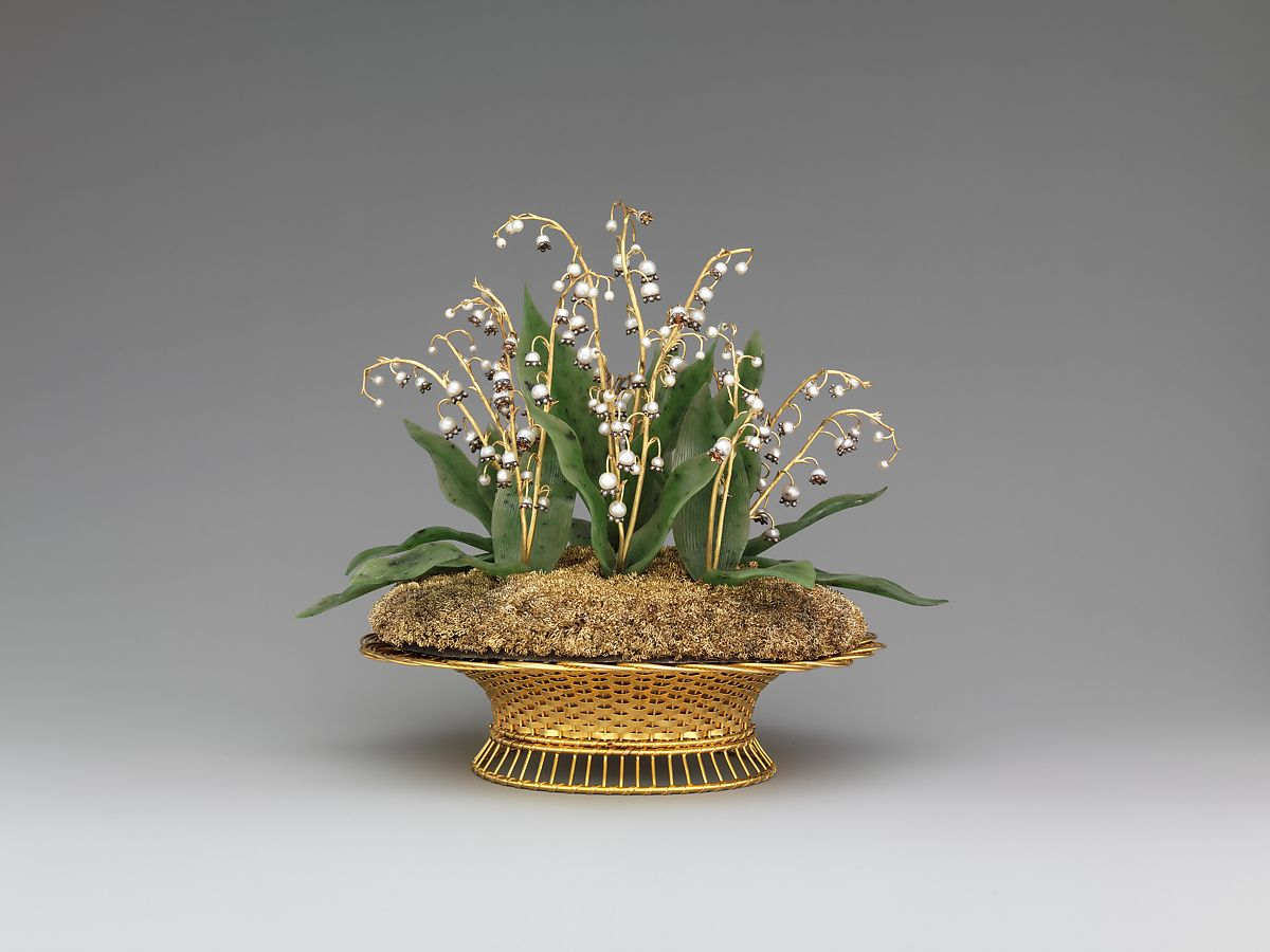 House Of Carl Faberg Imperial Lilies Of The Valley Basket