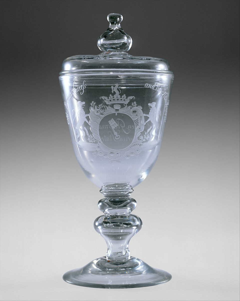 New Bremen Glass Manufactory | Covered goblet | American | The Met