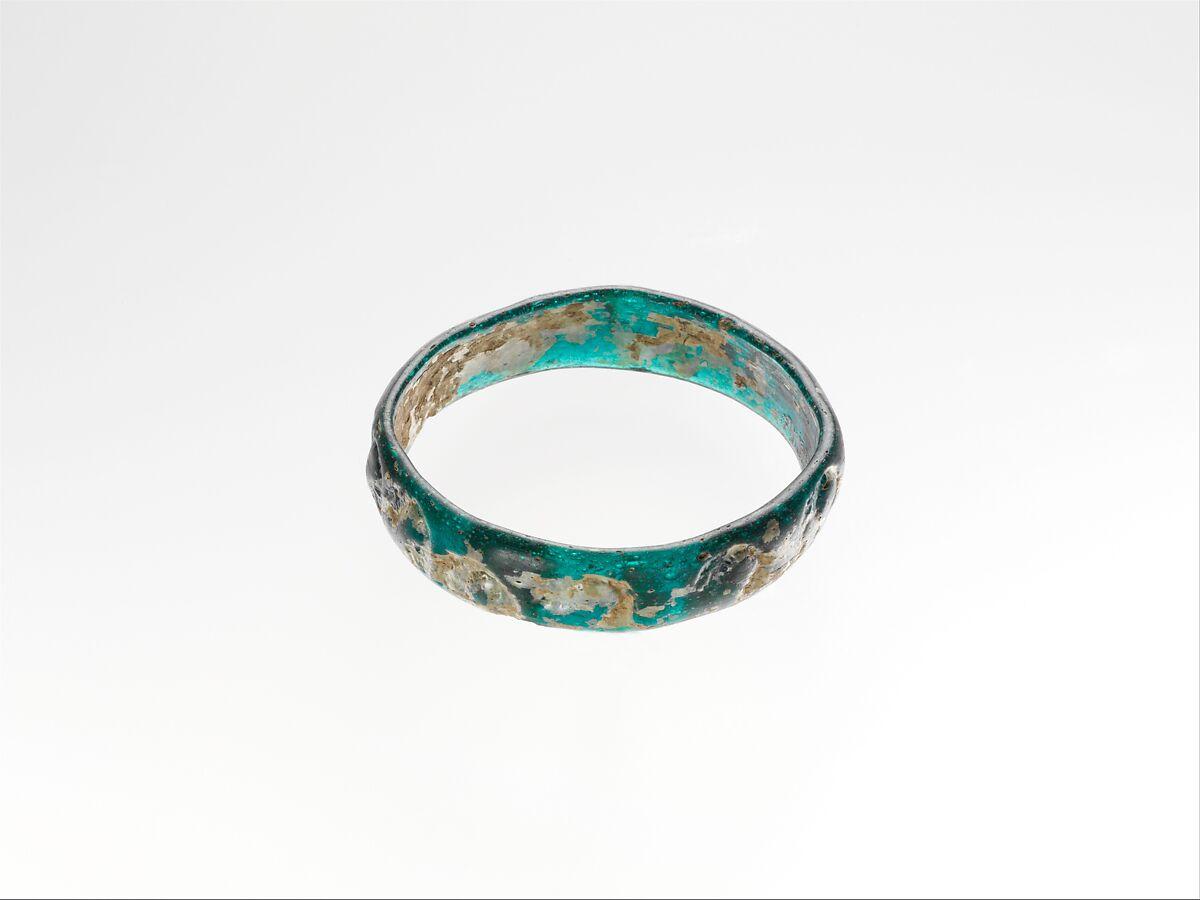 Glass bracelet with impressed decoration, Glass, Roman