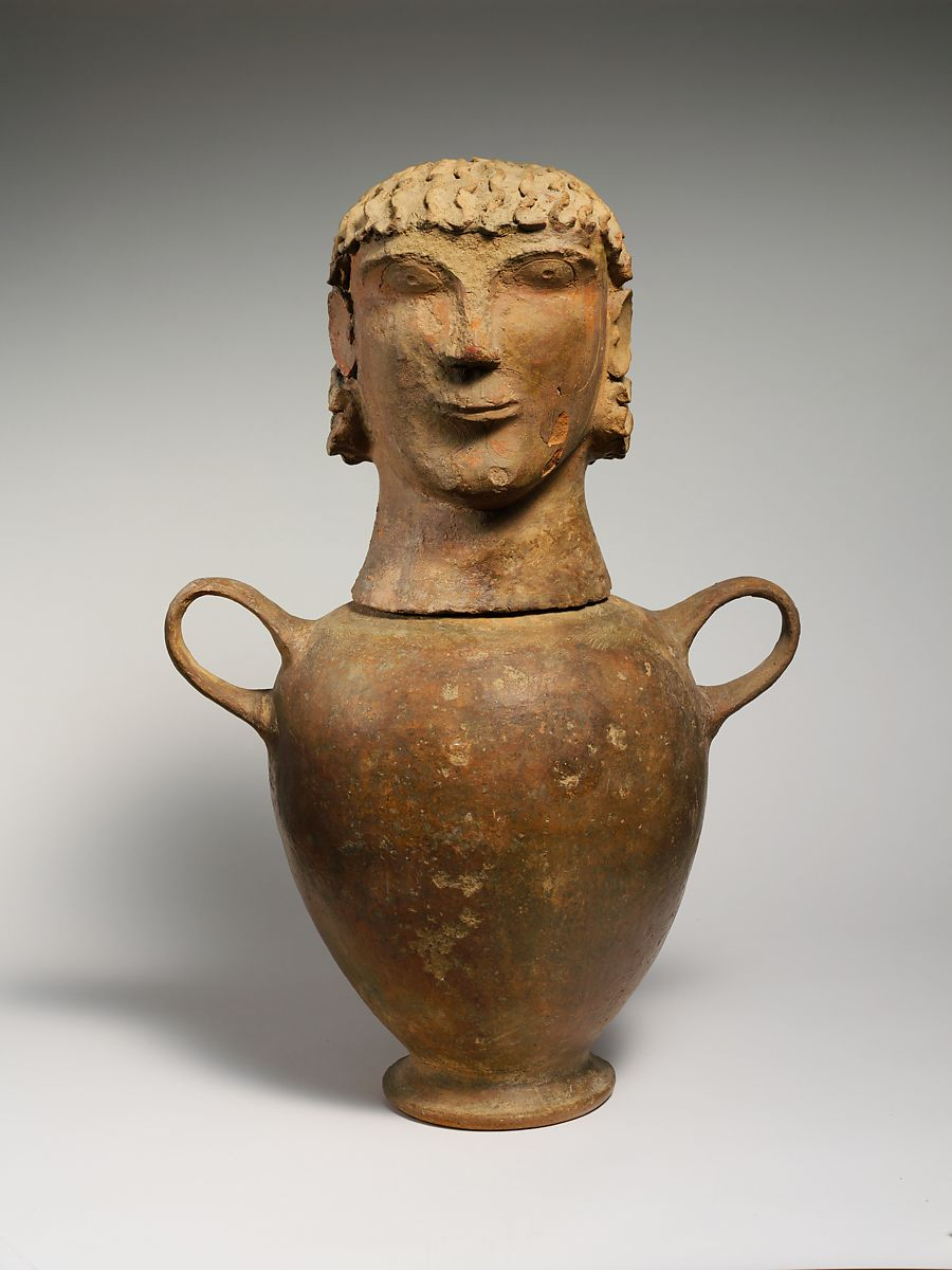 Terracotta Canopic Urn Etruscan Chiusi Or Environs