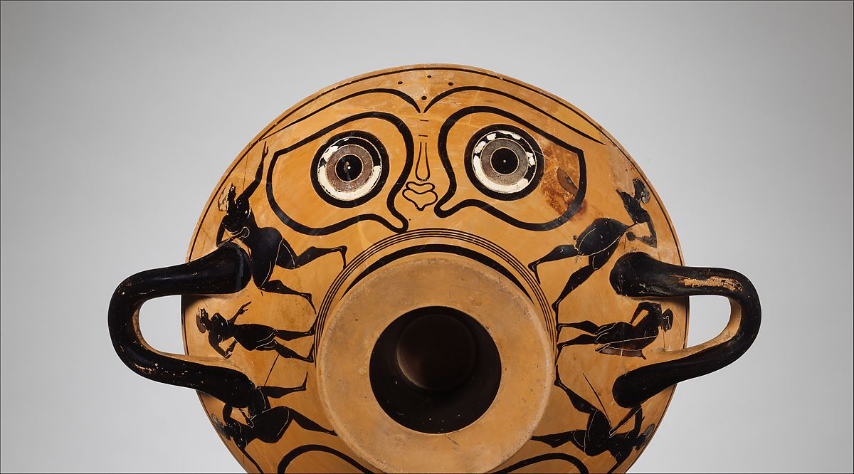 Terracotta kylix: eye-cup (drinking cup) | Greek, Attic | Archaic | The Met