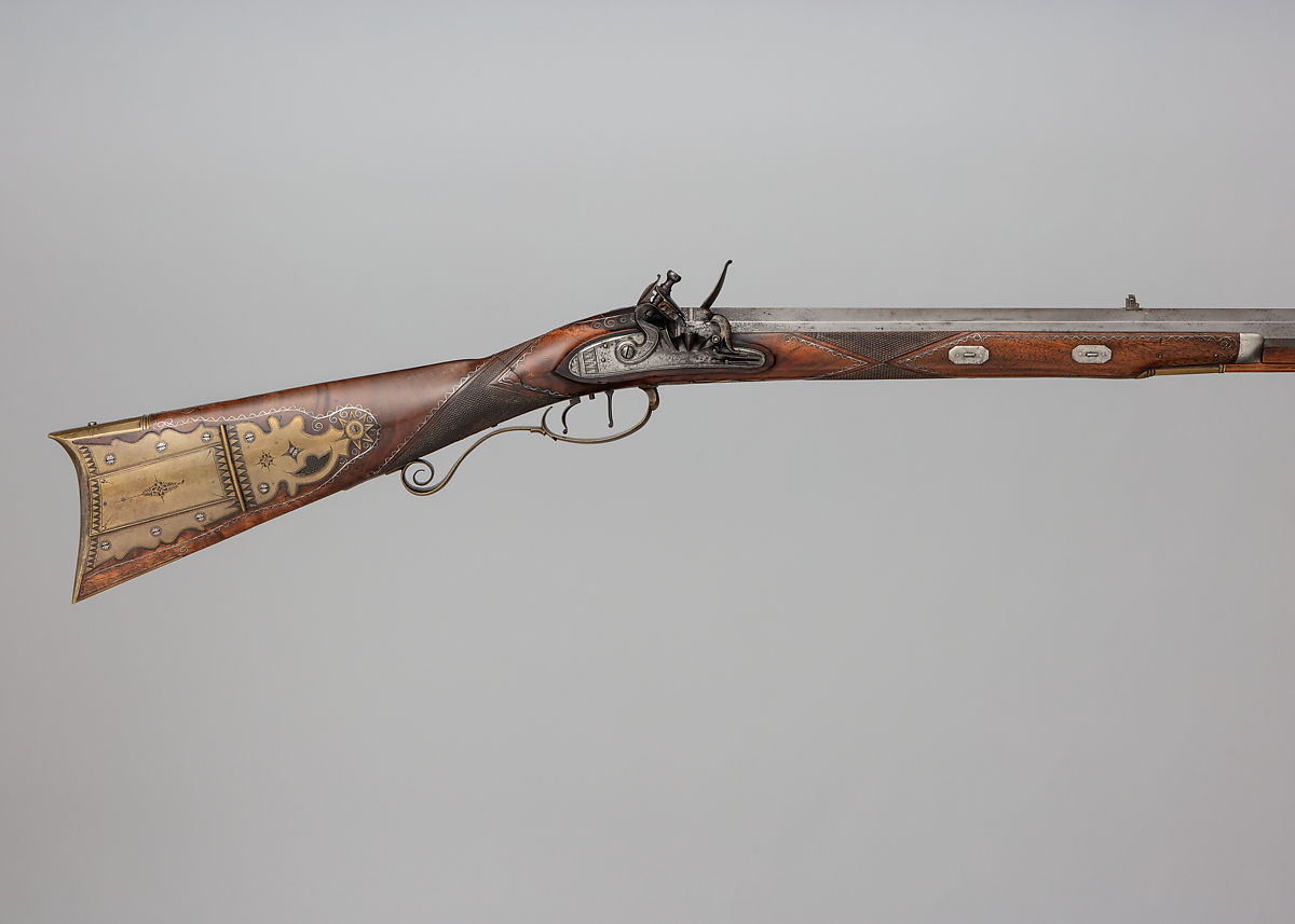 Silas Allen Jr  | Flintlock Rifle with Case and Bullet Mould