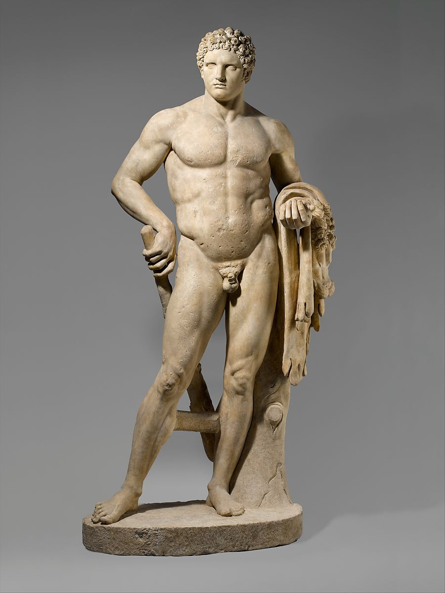 Marble statue of a youthful Hercules, Marble, Island ?, Roman