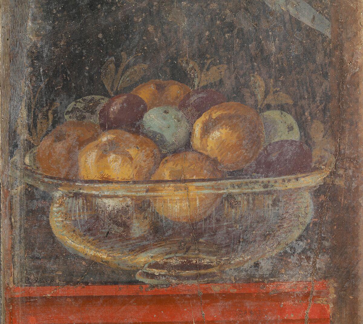 Antikes Fresko mit Obstschale