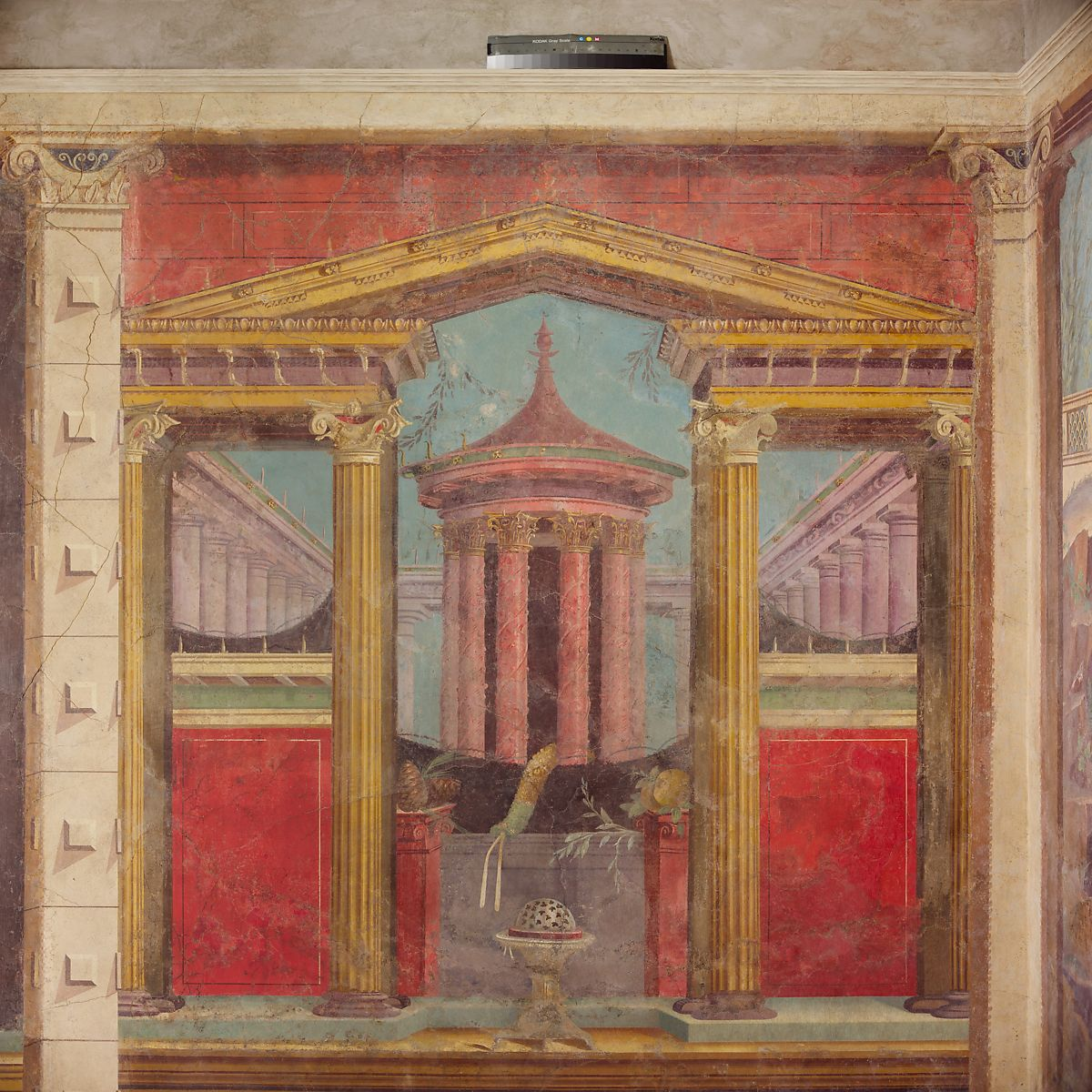 Cubiculum (bedroom) from the Villa of P. Fannius Synistor at Boscoreale, Fresco, Roman