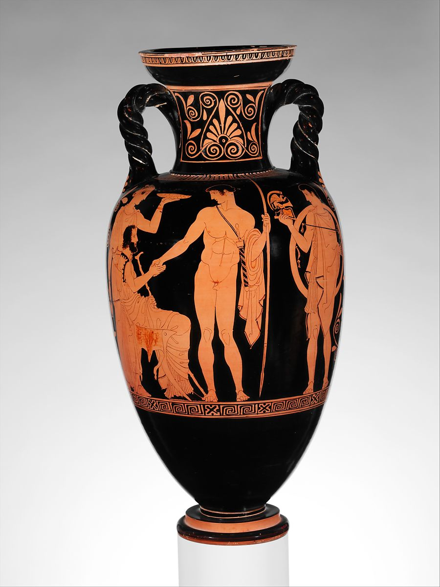 Attributed To The Lykaon Painter Terracotta Neck Amphora