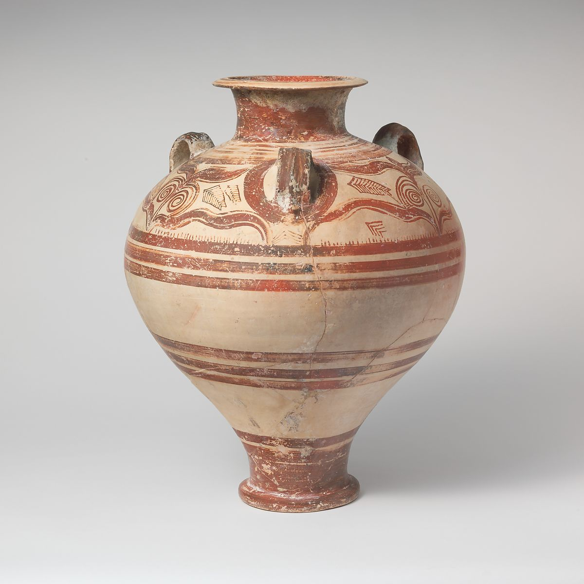 Terracotta pithoid jar | Mycenaean | Late Helladic IIIA2 early | The Met