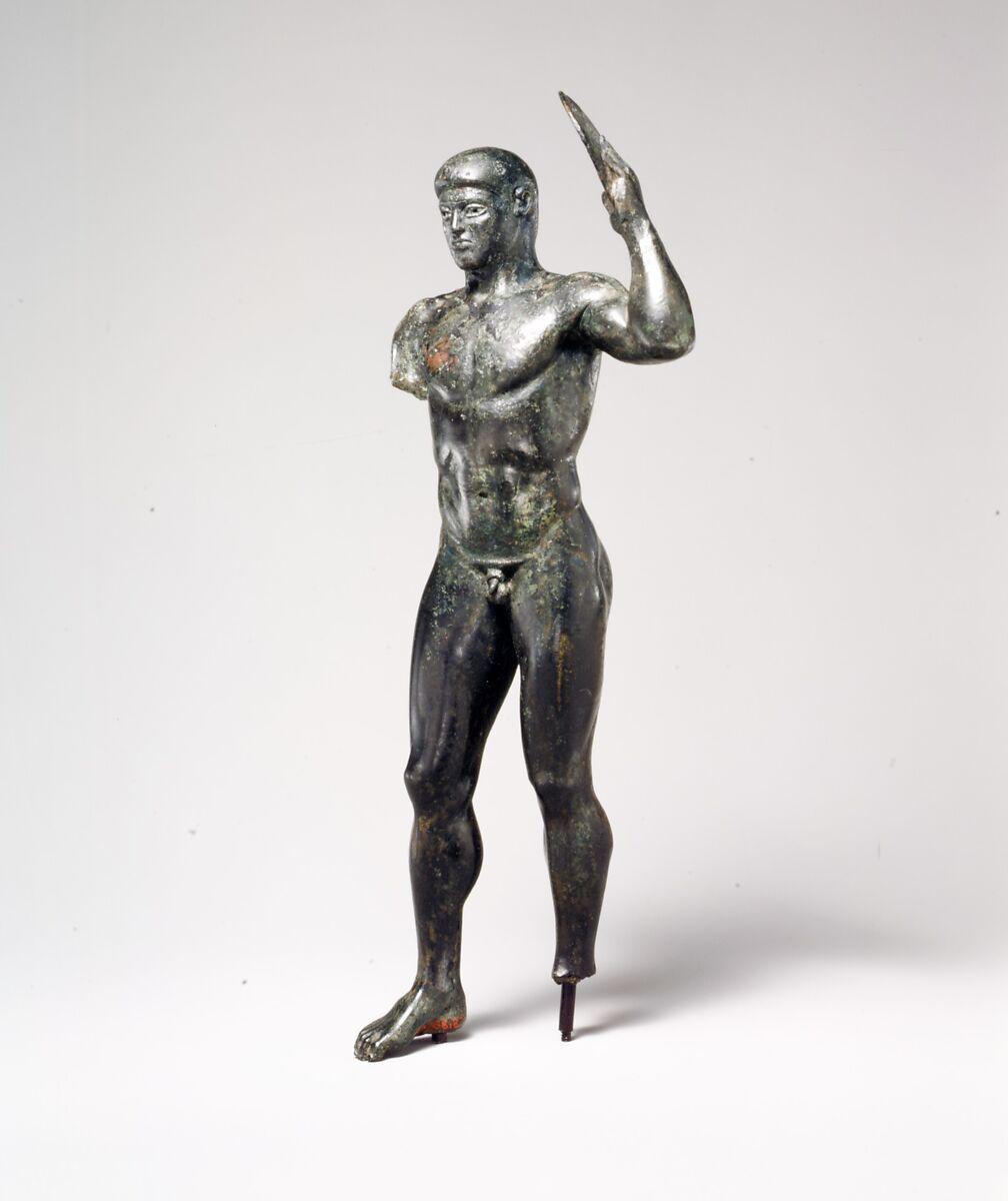Bronze diskos thrower, Bronze, Greek