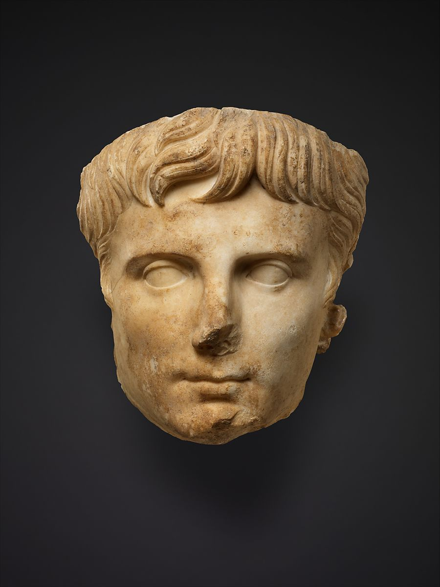 Marble portrait of the emperor Augustus | Roman | Early ...