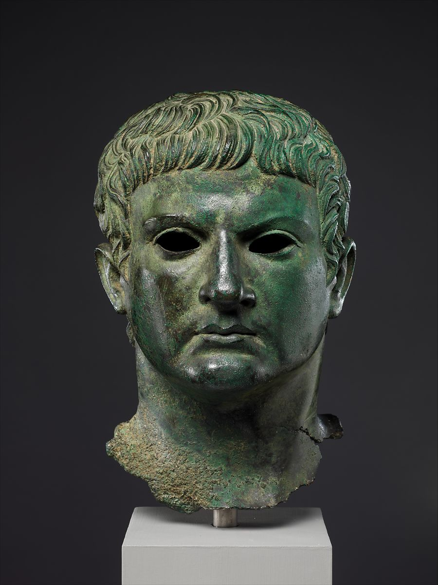 Bronze Portrait Of A Man Roman Early Imperial Julio