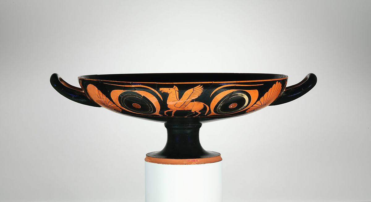 Attributed To Psiax Terracotta Kylix Drinking Cup Greek Attic