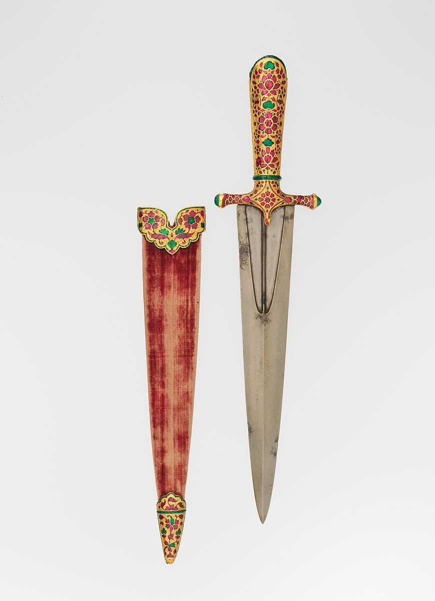 Dagger with Scabbard | Indian, Mughal | The Met