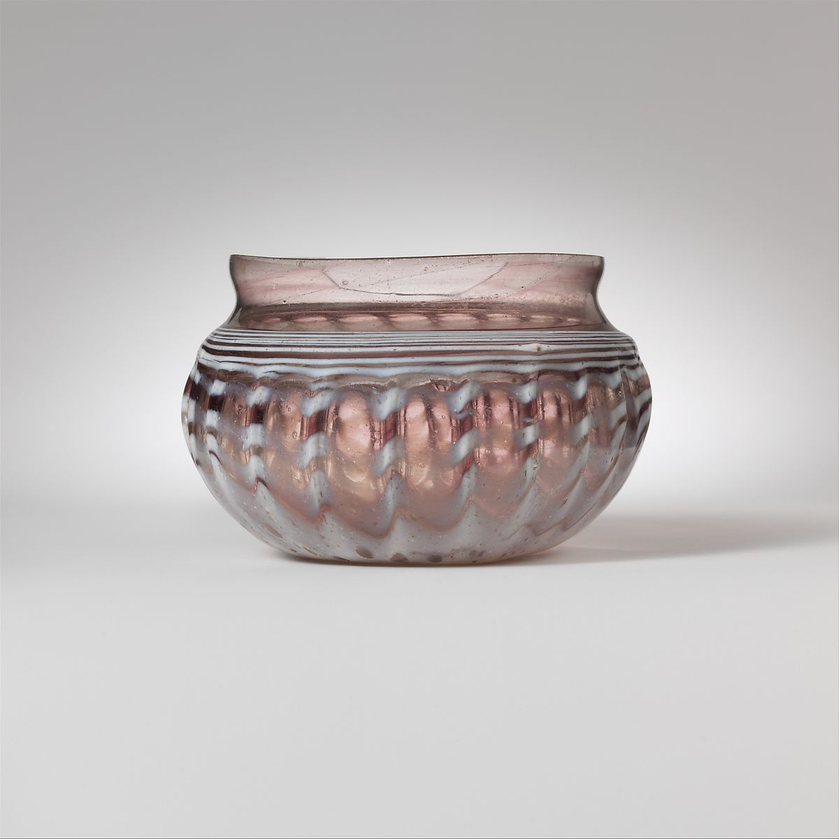 Glass ribbed bowl | Roman | Early Imperial | The Met