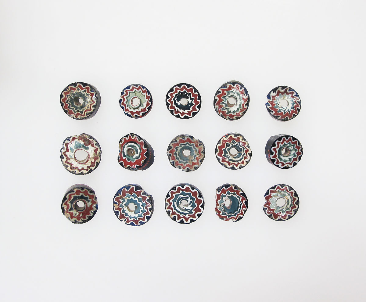 Millefiori bead rods, 15 | The Met