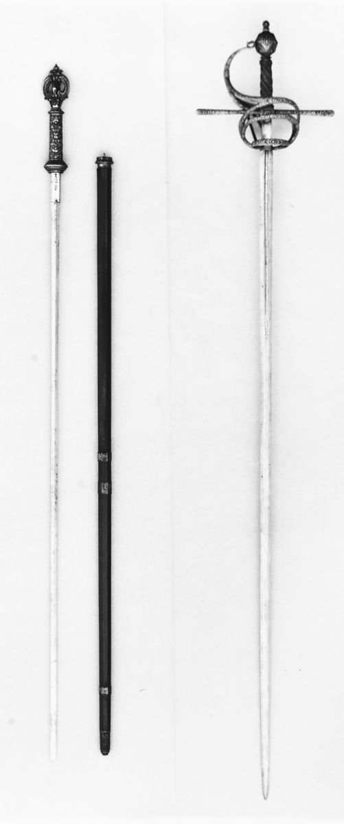 Sword Cane Probably made for Don Juan José of Austria (1629–1679) | German, Munich; blade, Spanish | The Met