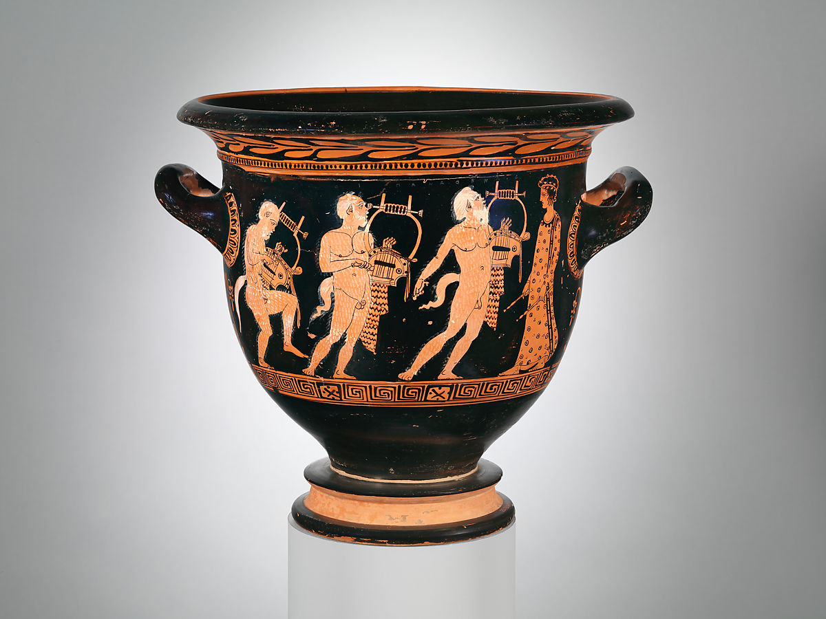 Attributed to Polion   Terracotta bell-krater (bowl for mixing wine and water)   Greek, Attic   Classical   The Met