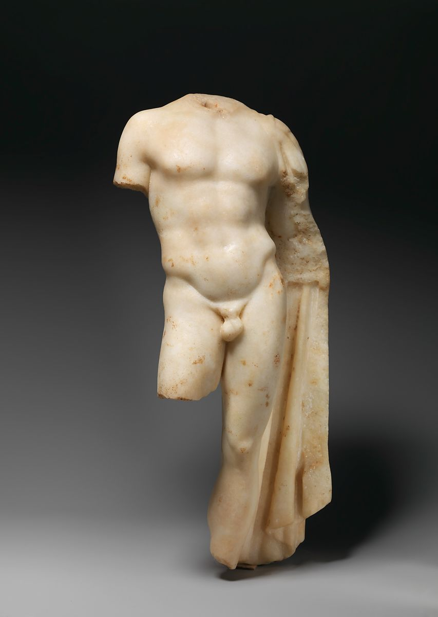 Marble statue of a youth   Greek or Roman   Late Hellenistic or Late Republican   The Met