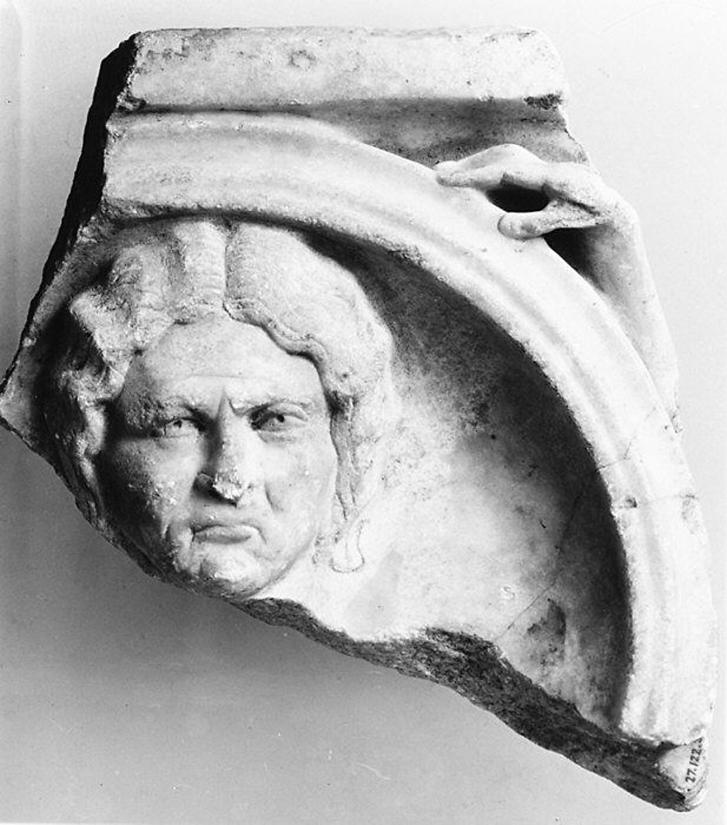 Marble sarcophagus fragment | Roman | Mid-Imperial period, Severan | The Met