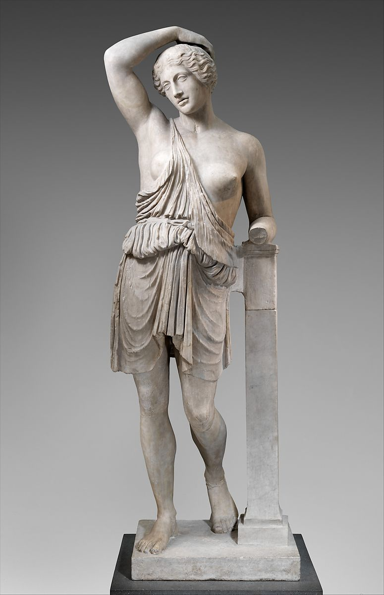 Marble statue of a wounded Amazon, Marble, Roman
