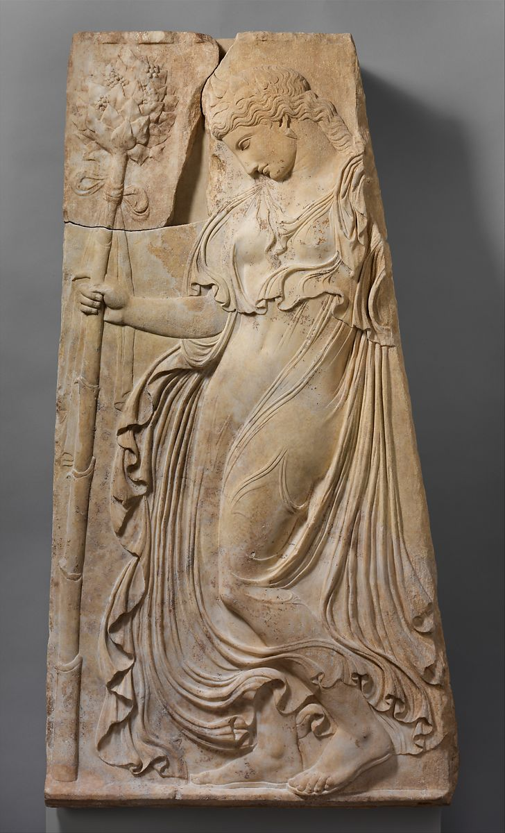 Adaptation of work attributed to Kallimachos | Marble relief with a dancing maenad | Roman | Early Imperial, Augustan | The Met