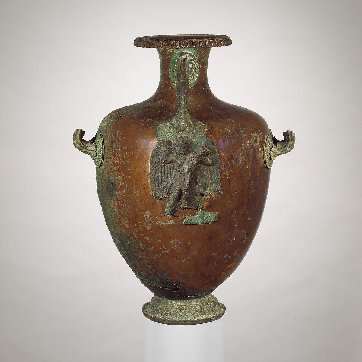 Bronze hydria (water jar) | Greek | Late Classical | The Met