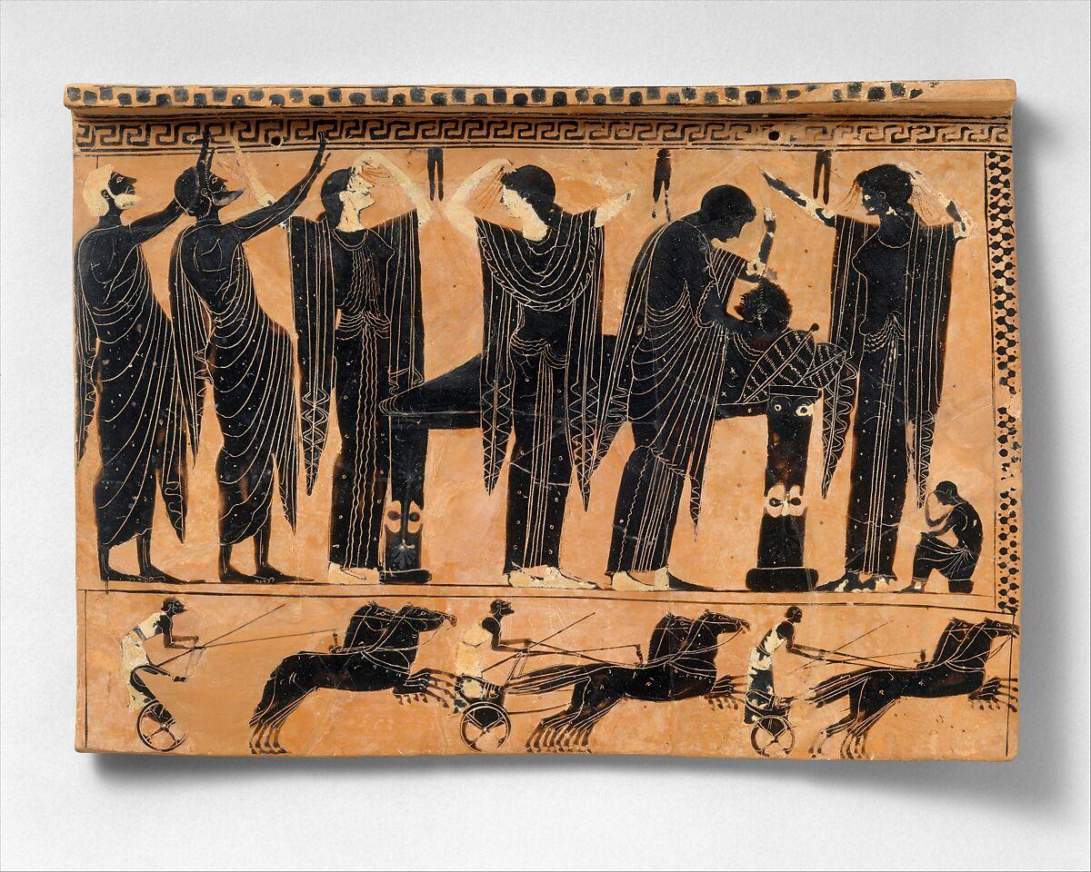 Terracotta funerary plaque