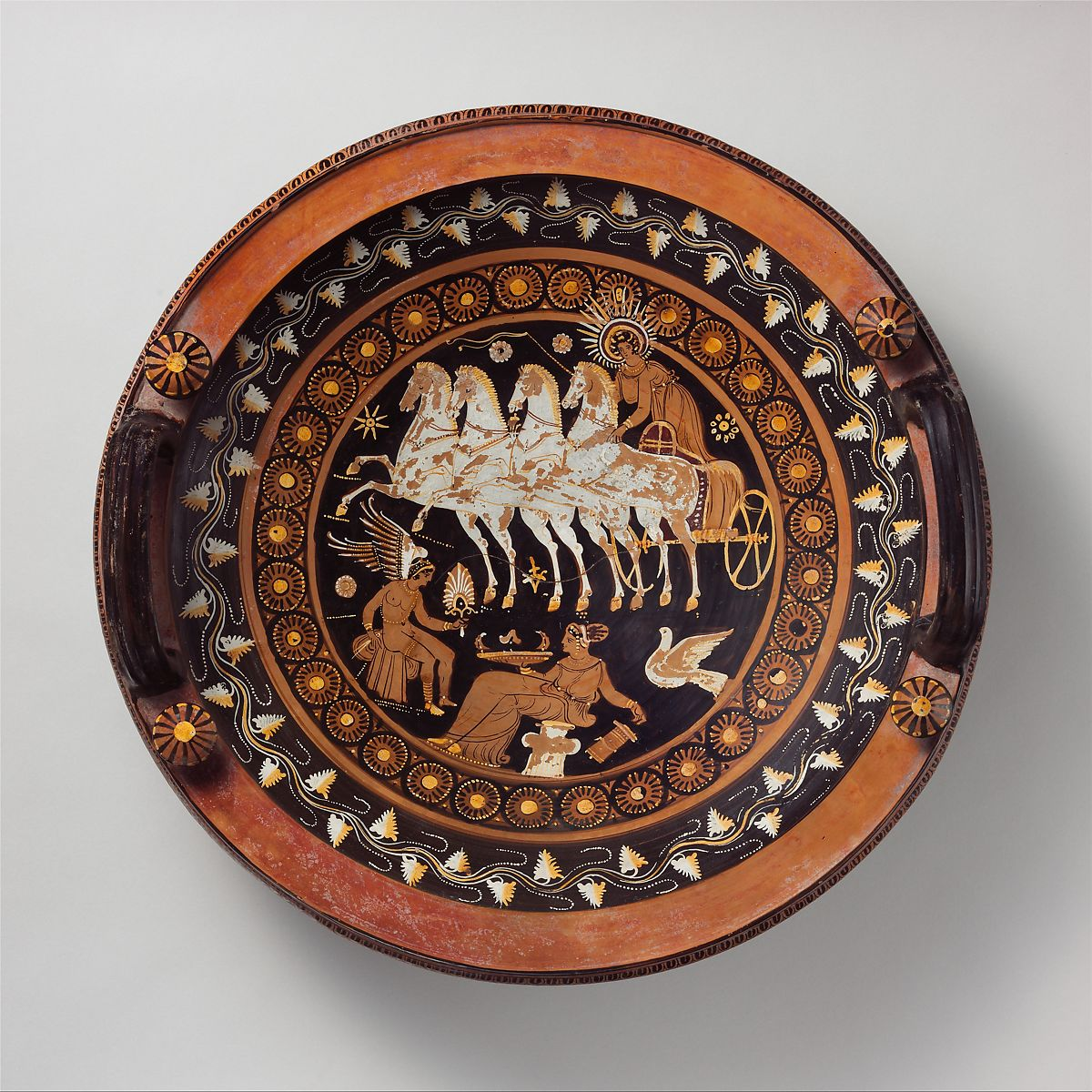 Attributed to the Stuttgart Group | Terracotta lekanis (dish) | Greek, South Italian, Apulian | Late Classical | The Met