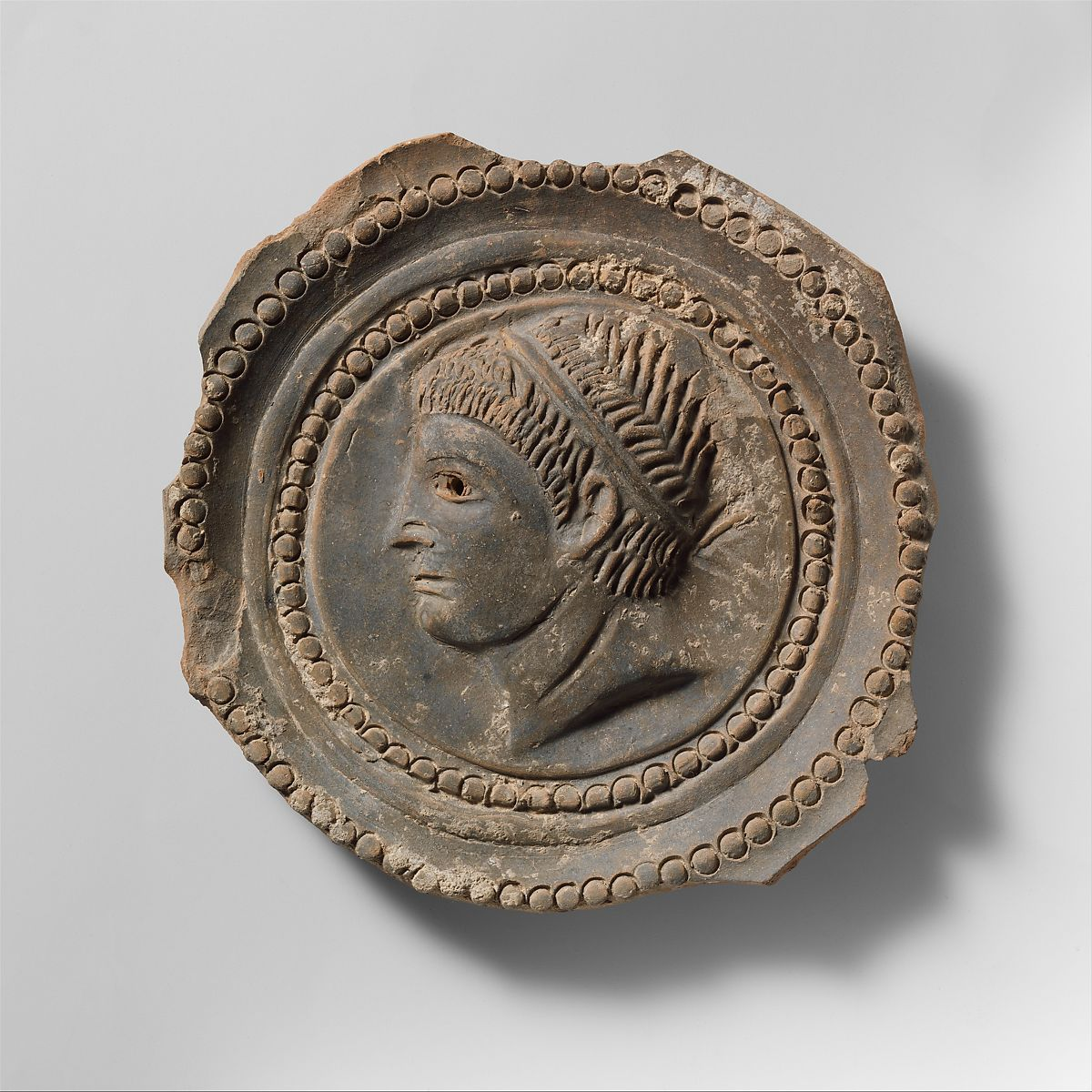 Fragmentary terracotta bowl with tondo | Roman | Imperial, Late Flavian–Hadrianic | The Met