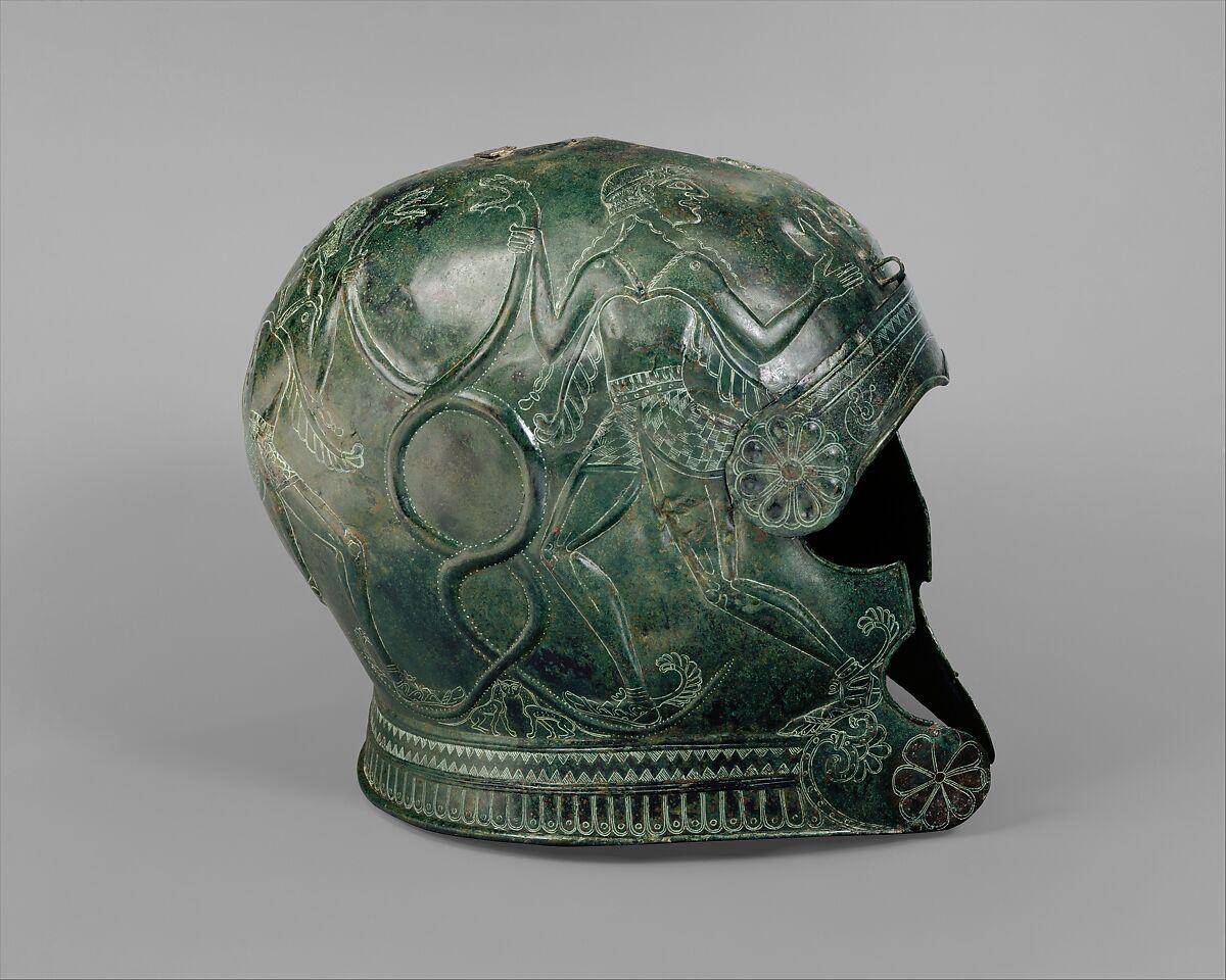 Bronze Helmet Greek Cretan Archaic The Met