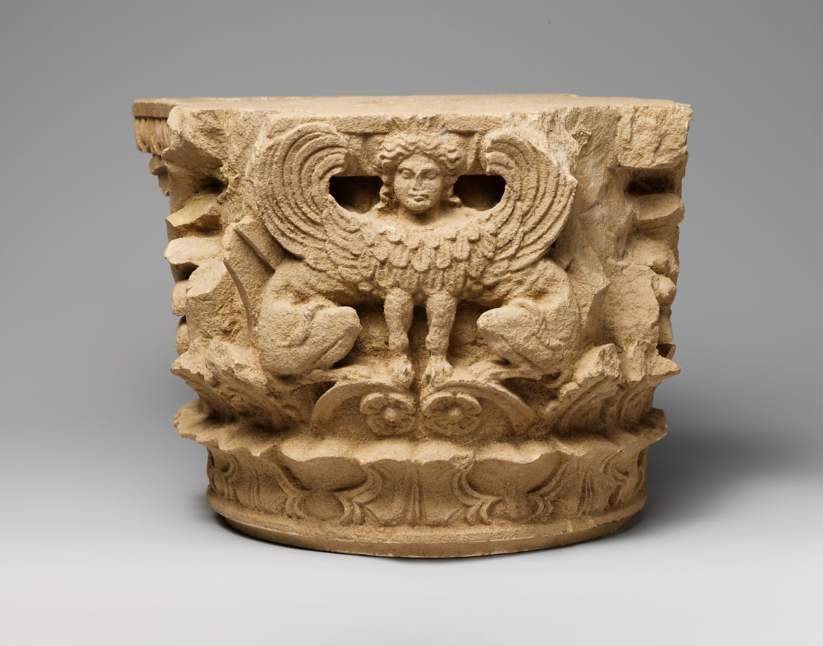 Limestone column capital | Greek, South Italian, Tarentine | Hellenistic | The Met