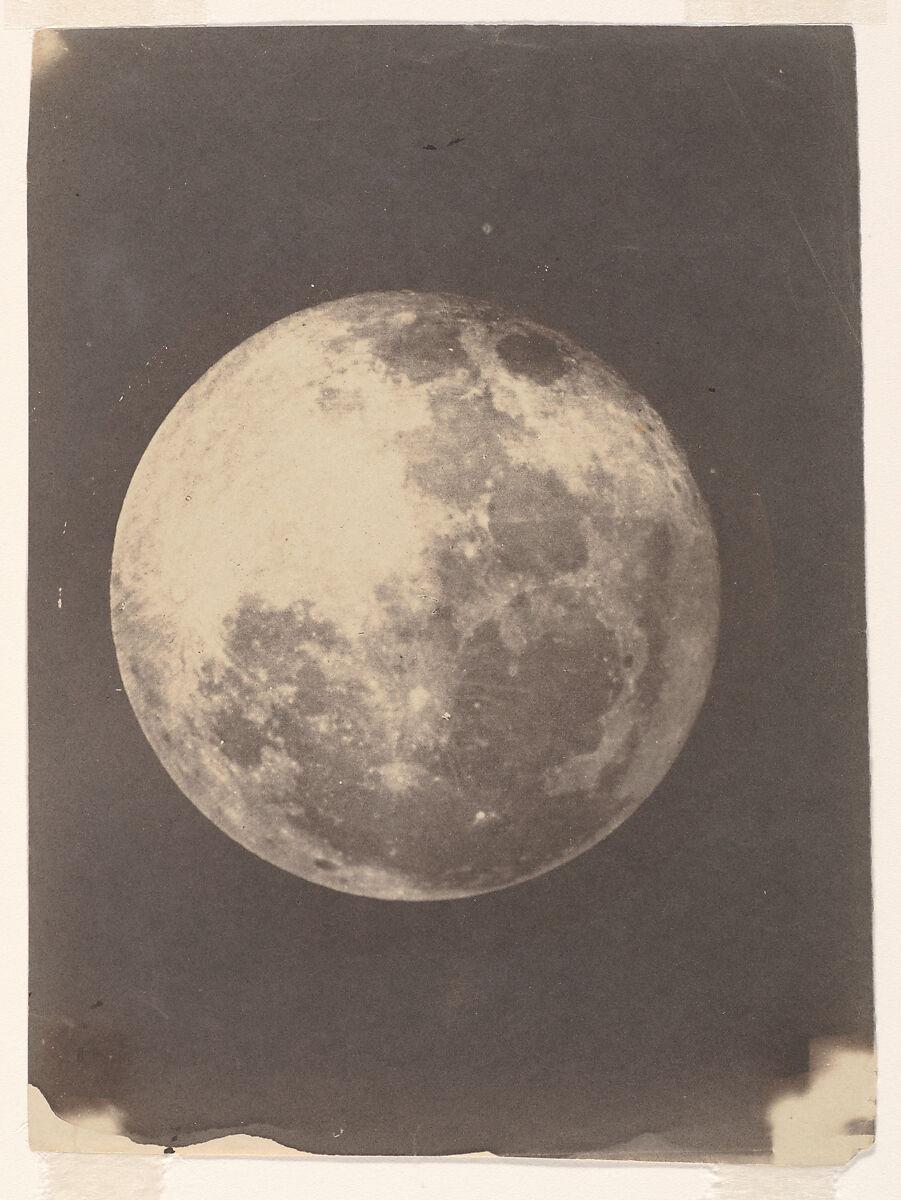 The Moon, John Adams Whipple (American, Cambridge, Massachusetts 1822–1891 Grafton, Massachusetts), Salted paper print from glass negative