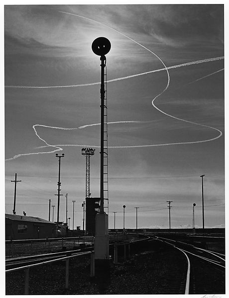 Ansel Easton Adams | Rails and Jet Trails, Roseville, California | The Met