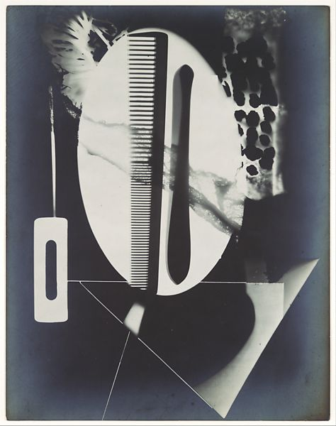 Man Ray | [Rayograph; Comb, Straight Razor Blade, Needle and Other Forms] | The Met