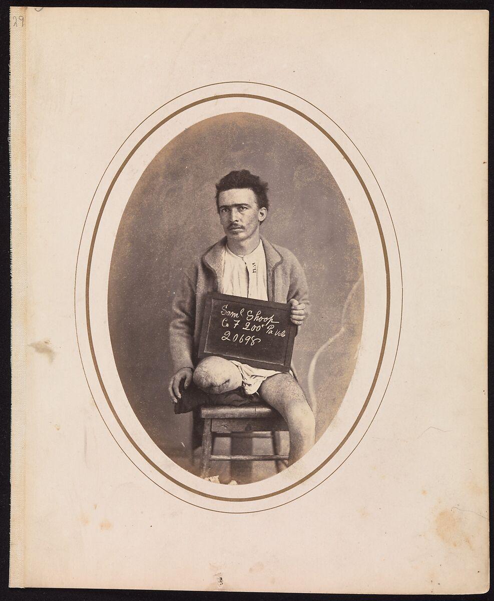 Private Samuel Shoop, Company F, 200th Pennsylvania Infantry, Reed Brockway Bontecou (American, 1824–1907), Albumen silver print from glass negative