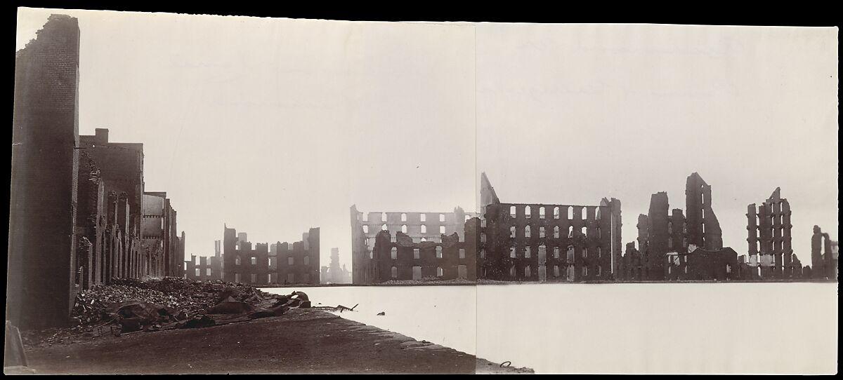 Ruins of Gallego Flour Mills, Richmond, Alexander Gardner (American, Glasgow, Scotland 1821–1882 Washington, D.C.), Albumen silver prints from glass negatives