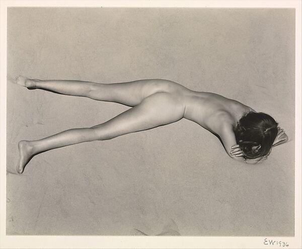 Nude on Sand, Oceano, Edward Weston (American, Highland Park, Illinois 1886–1958 Carmel, California), Gelatin silver print