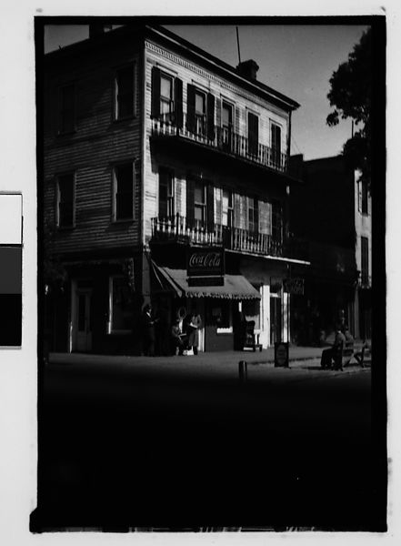 Walker Evans Cast Iron Balconied Town House With Ground Floor Drugstore From Automobile Savannah Georgia The Metropolitan Museum Of Art