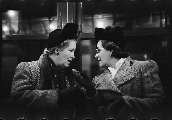 Walker Evans | [One 35mm Film Frame: Subway Passengers, New York City: Two Women in Conversation] | The Met