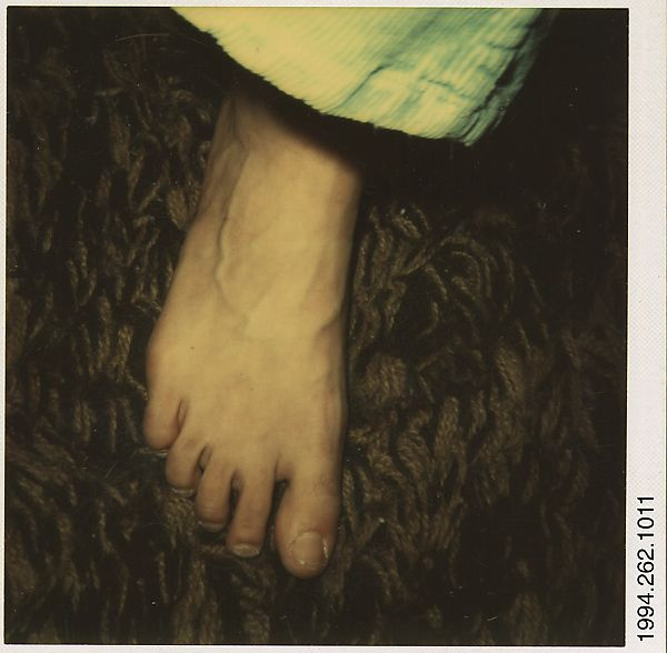 [Foot], Walker Evans (American, St. Louis, Missouri 1903–1975 New Haven, Connecticut), Instant color print