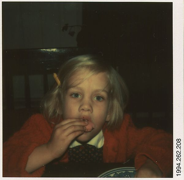 [Leila Hill Eating a Cookie], Walker Evans (American, St. Louis, Missouri 1903–1975 New Haven, Connecticut), Instant color print