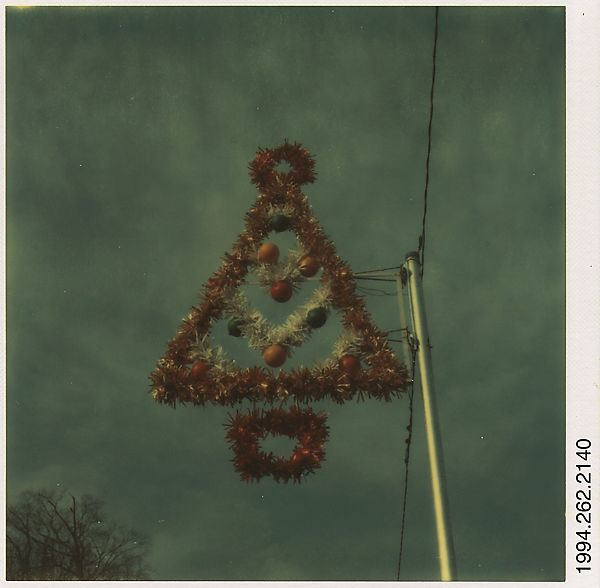 Walker Evans | [Sign: Hanging Christmas Tree] | The Met