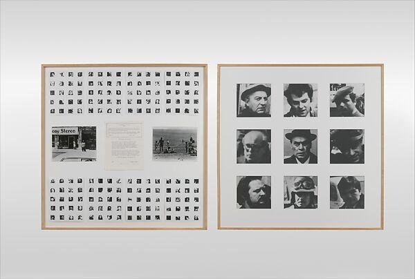 598 / Variable Piece #70 : 1971 (In Process) Global 1975, Douglas Huebler (American, 1924–1997), Gelatin silver prints and typescript
