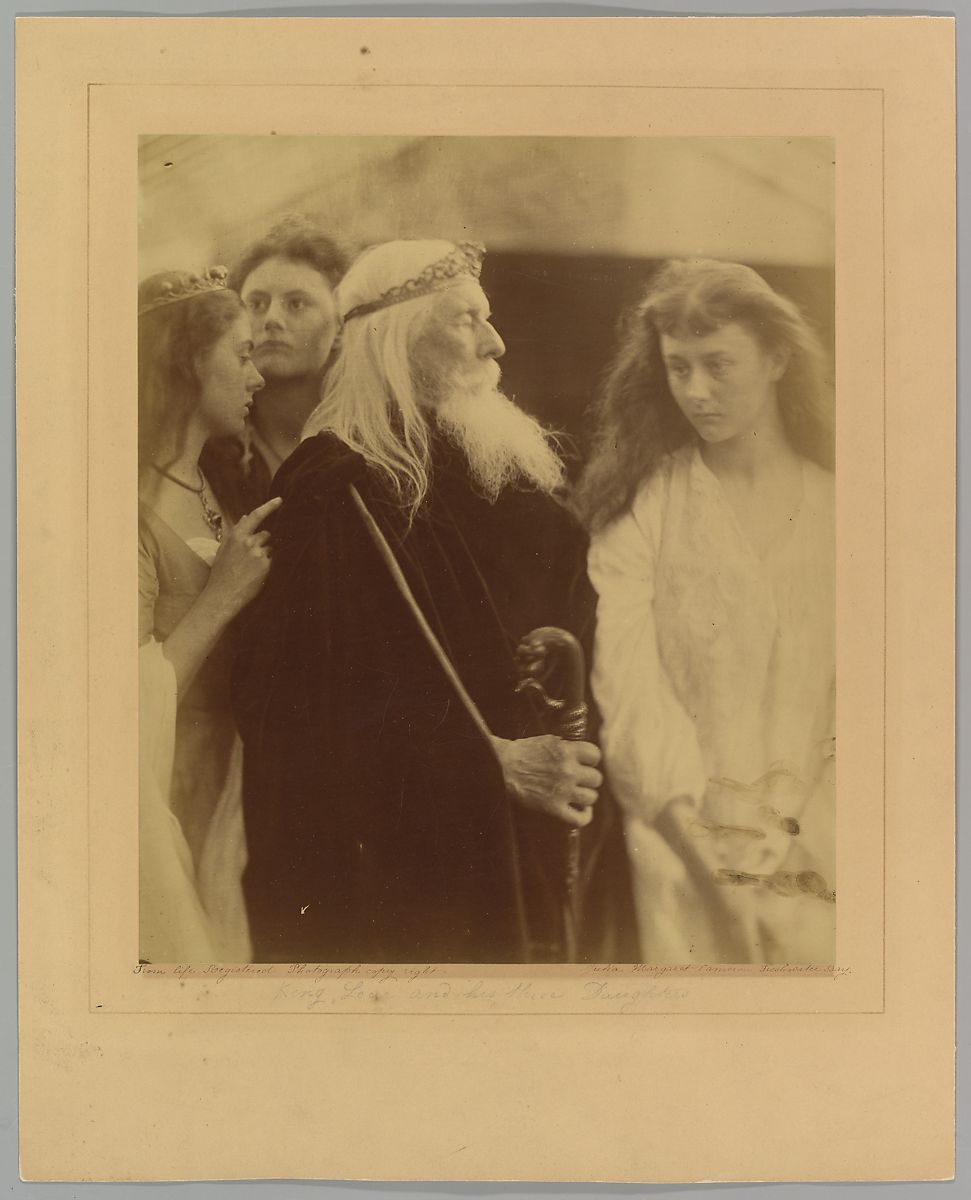 Julia Margaret Cameron | King Lear Alotting His Kingdom to His Three Daughters | The Met
